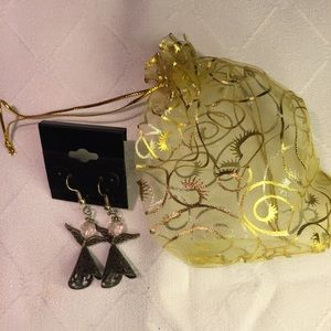Handmade Angel drop earrings